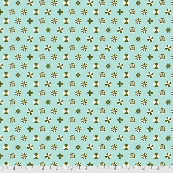 June 50% Deposit/Preorder- Flannel Peppermint Stars in Pine Fresh from Holiday Homies Flannel by Tula Pink for Freespirit Fabrics