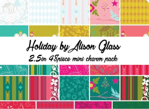 Holiday by Alison Glass Mini Charm Pack, 48 2.5 Inch Squares