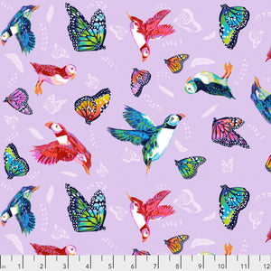 Friends in Flight in Lavender from Migration by Lorraine Turner
