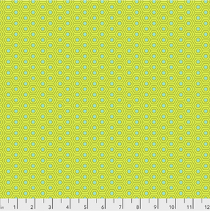 Hexy in Chameleon from True Colors by Tula Pink for Freespirit Fabrics