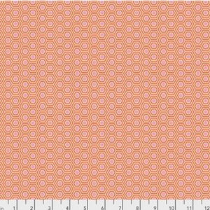 Hexy in Peach Blossom from True Colors by Tula Pink for Freespirit Fabrics
