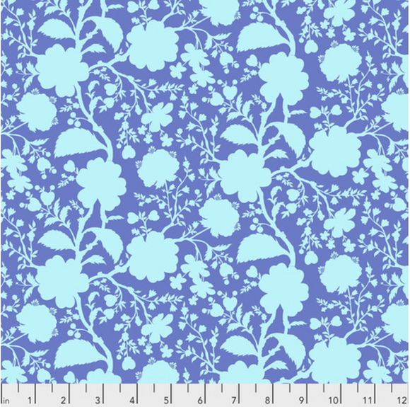 Preorder/Deposit- Wildflower in Delphinium from True Colors by Tula Pink for Freespirit Fabrics