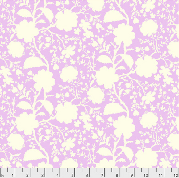 Wildflower in Peony from True Colors by Tula Pink for Freespirit Fabrics
