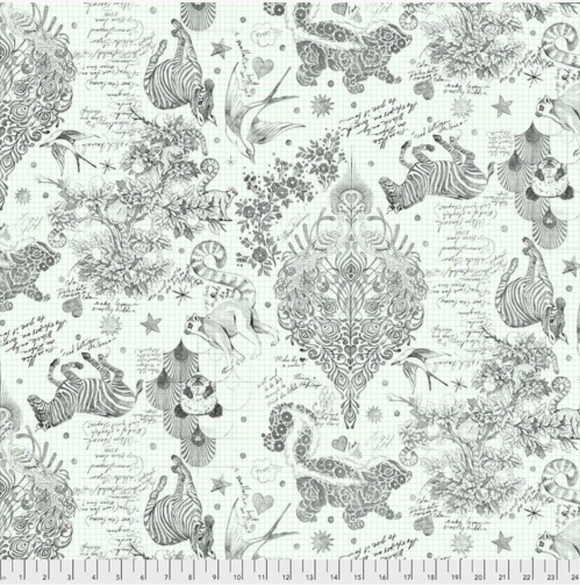 October Preorder/Deposit- 3yds 108in Wideback, Sketchy in Paper from Linework by Tula Pink for Freespirit Fabrics
