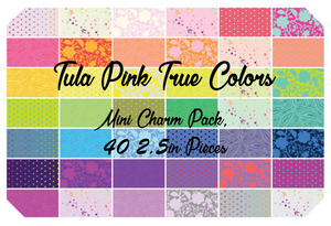 Tula Pink True Colors Mini Charm Pack, 40 2.5 Inch Squares