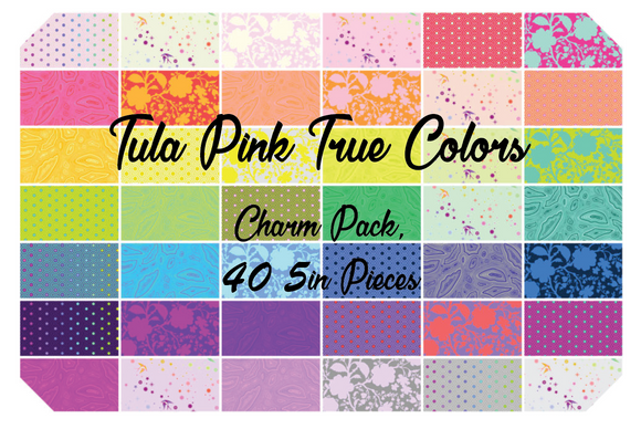 Tula Pink True Colors Charm Pack, 42 5 Inch Squares