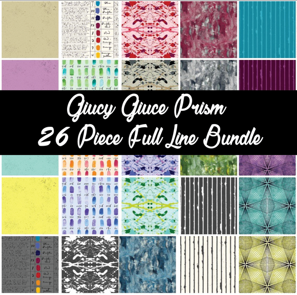 Fat Quarter, Half Yard, and Full Yard Bundles of Prism by Giucy Giuce for Andover Fabrics