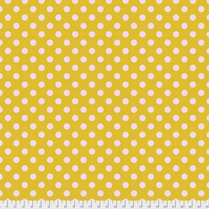 Pom Poms in Marigold from Pom Poms and Stripes by Tula Pink for Freespirit Fabrics