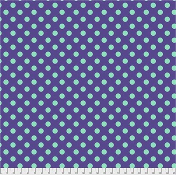 Pom Poms in Iris from Pom Poms and Stripes by Tula Pink for Freespirit Fabrics