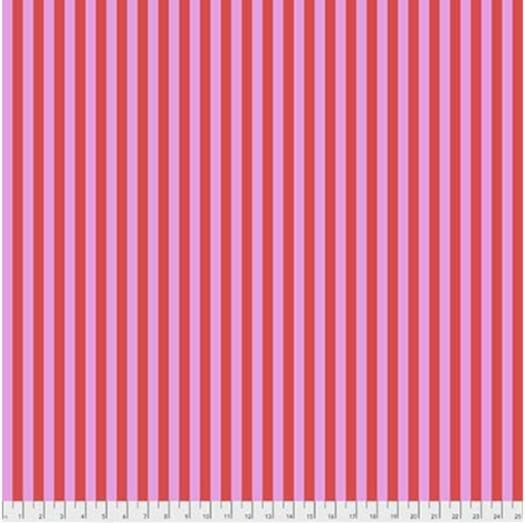Tent Stripe in Poppy from Pom Poms and Stripes by Tula Pink for Freespirit Fabrics