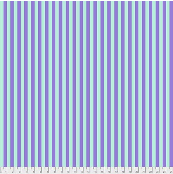 Tent Stripe in Petunia from Pom Poms and Stripes by Tula Pink for Freespirit Fabrics