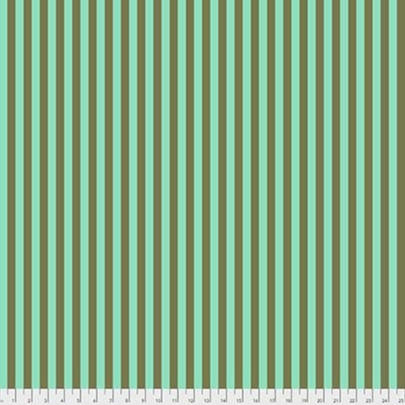 Tent Stripe in Agave from Pom Poms and Stripes by Tula Pink for Freespirit Fabrics