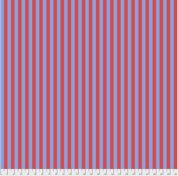 Tent Stripe in Lupine from Pom Poms and Stripes by Tula Pink for Freespirit Fabrics