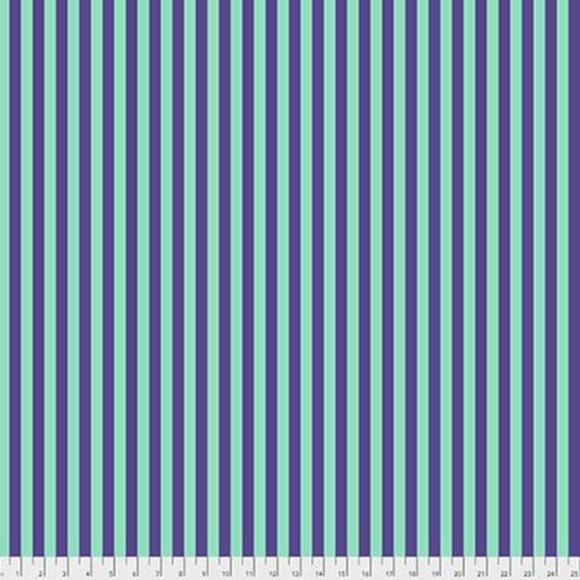 Tent Stripe in Iris from Pom Poms and Stripes by Tula Pink for Freespirit Fabrics