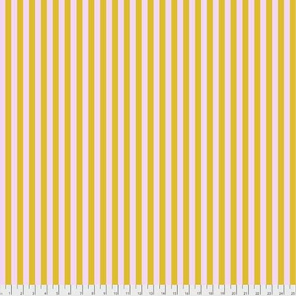 Tent Stripe in Marigold from Pom Poms and Stripes by Tula Pink for Freespirit Fabrics