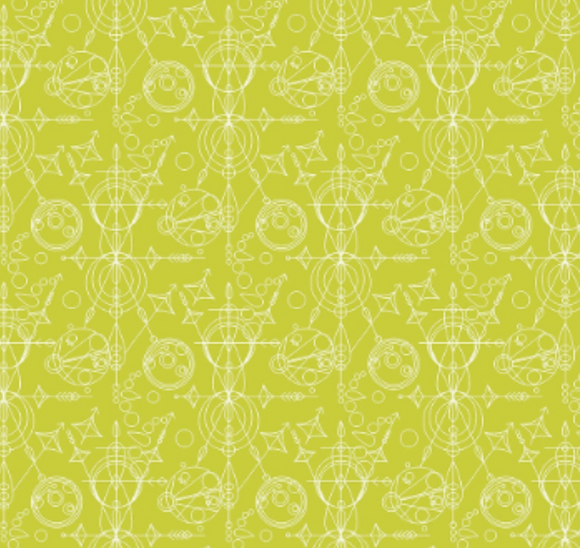 Mercury in Green from Sun Print 2015 by Alison Glass for Andover Fabrics