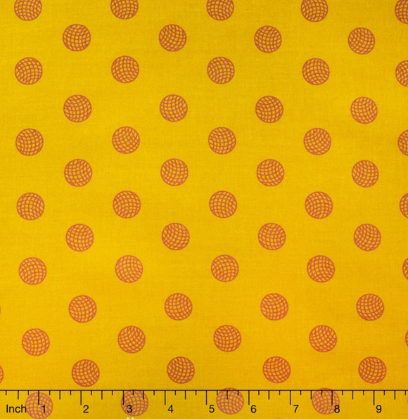 Sphere in Amber from Sun Print 2016 by Alison Glass for Andover Fabrics