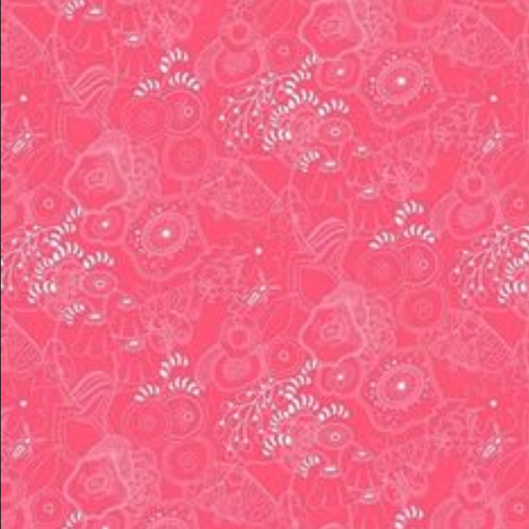 Grow in Salmon from Sun Print 2016 by Alison Glass for Andover Fabrics