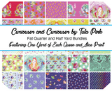 April 50% Deposit/Preorder- 25pc Fat Quarter or Half Yard with Full Yards of Cameos! Curiouser and Curiouser by Tula Pink for Freespirit Fabrics