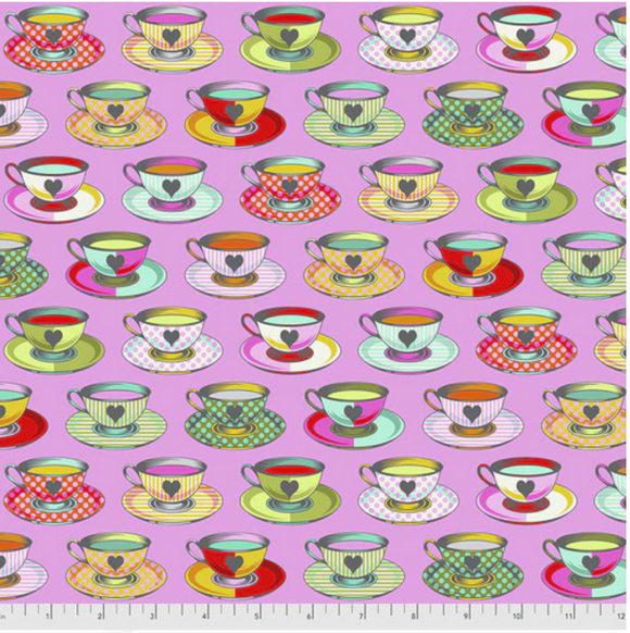 April 50% Deposit/Preorder- Tea Time in Wonder from Curiouser and Curiouser by Tula Pink