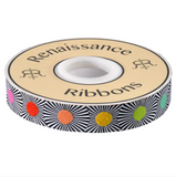 7/8in Jacquard Ribbon, Narrow Multi Dots from Linework by Tula Pink for Renaissance Ribbons