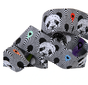 1 1/2in Jacquard Ribbon, Pandas Lovers from Linework by Tula Pink for Renaissance Ribbons