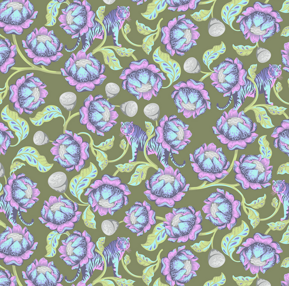 Lotus in Amethyst from Eden by Tula Pink for Freespirit Fabrics