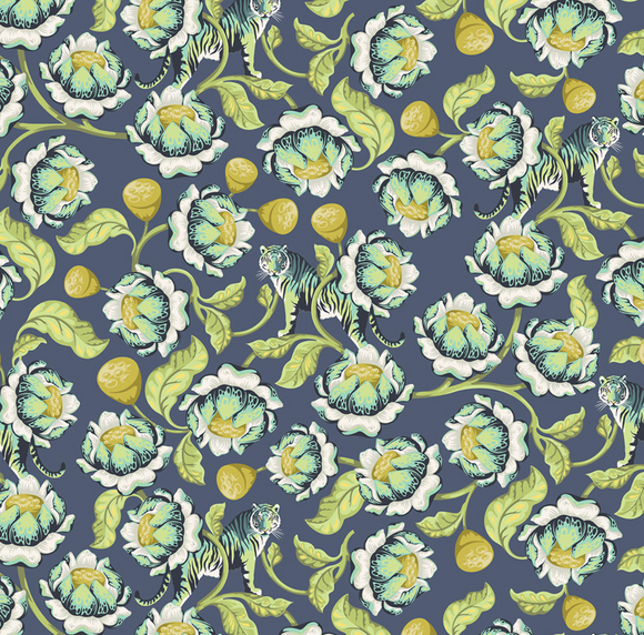 Lotus in Midnight from Eden by Tula Pink for Freespirit Fabrics