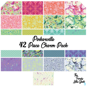 Pinkerville by Tula Pink Charm Pack, 42 Pieces, 2 each of 21 prints