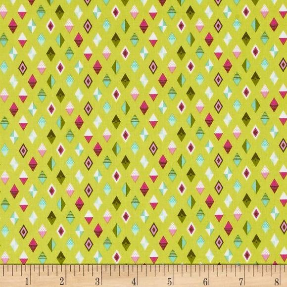 Track Flags in Strawberry Kiwi from Slow and Steady by Tula Pink