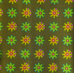 Daisy in Olive from Field Day by Alison Glass for Andover Fabrics