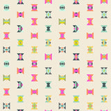 Arrowheads in Electric Sky from Spirit Animal by Tula Pink for Freespirit Fabrics