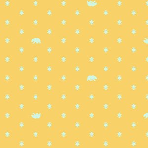 Bear Hug in Sun Kissed from Spirit Animal by Tula Pink for Freespirit Fabrics