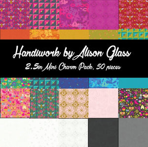 Handiwork by Alison Glass Mini Charm Pack, 50 Pieces, 2 each of 25 prints