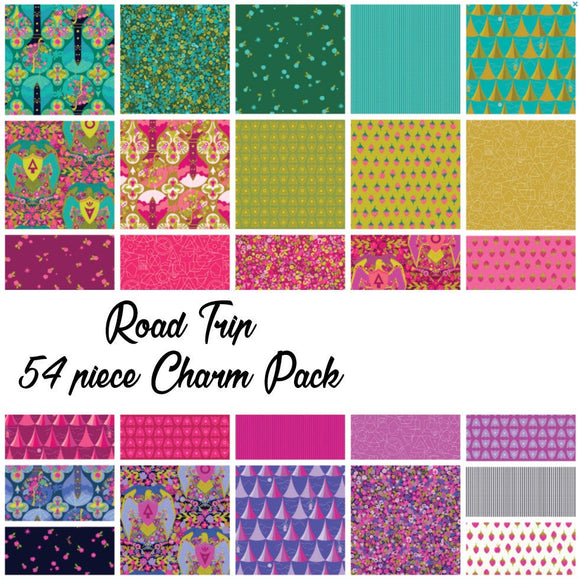 Road Trip by Alison Glass Charm Pack, 54 Pieces, 2 each of 27 prints