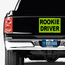 Rookie Driver Signs | Magnets and Stickers
