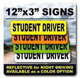 Color Selections for Student Driver Signs