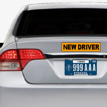 New Driver Bumper Sticker 12x3""