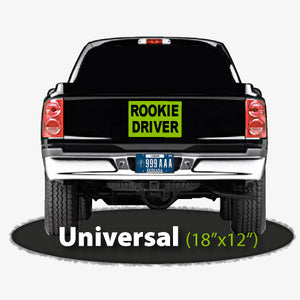 "18""x12"" Rookie Driver Magnetic Car Sign 