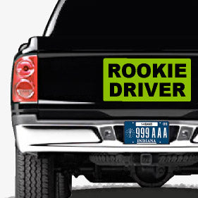 "24""x12"" Rookie Driver Magnetic Car Sign 