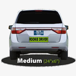 "24x6"" Rookie Driver Magnet Sign for Cars"