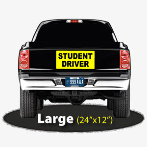 "24""x12"" Student Driver Magnetic Sign for Driver Training"