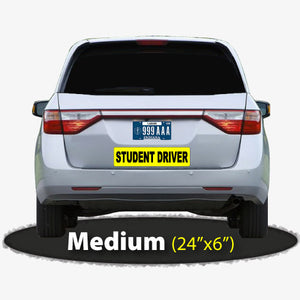 Large Student Driver Sticker 24x6""