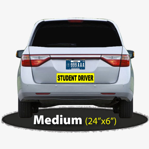 Large Student Driver Sticker 24x6
