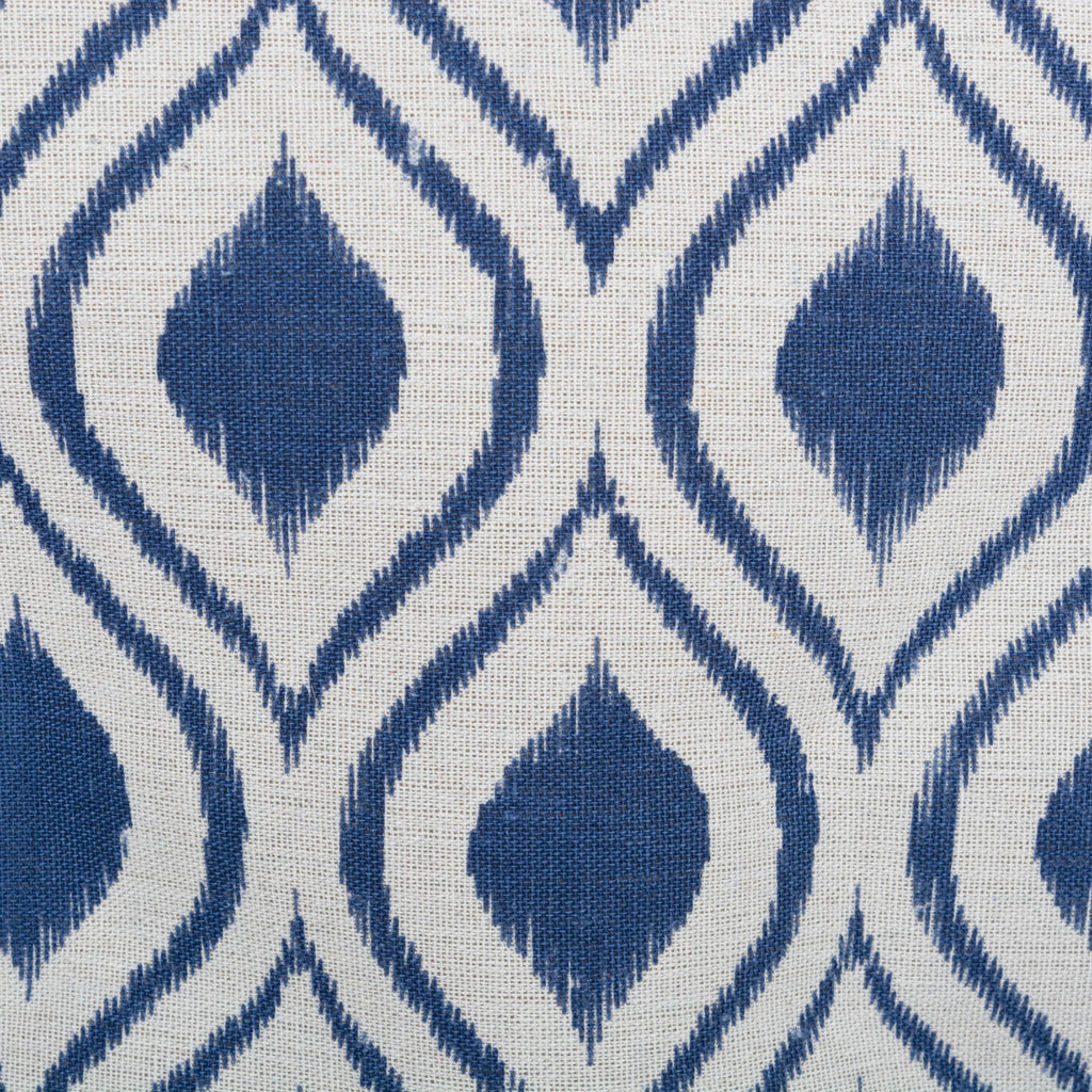 DII Polyester Bin Ikat French Blue Round Medium