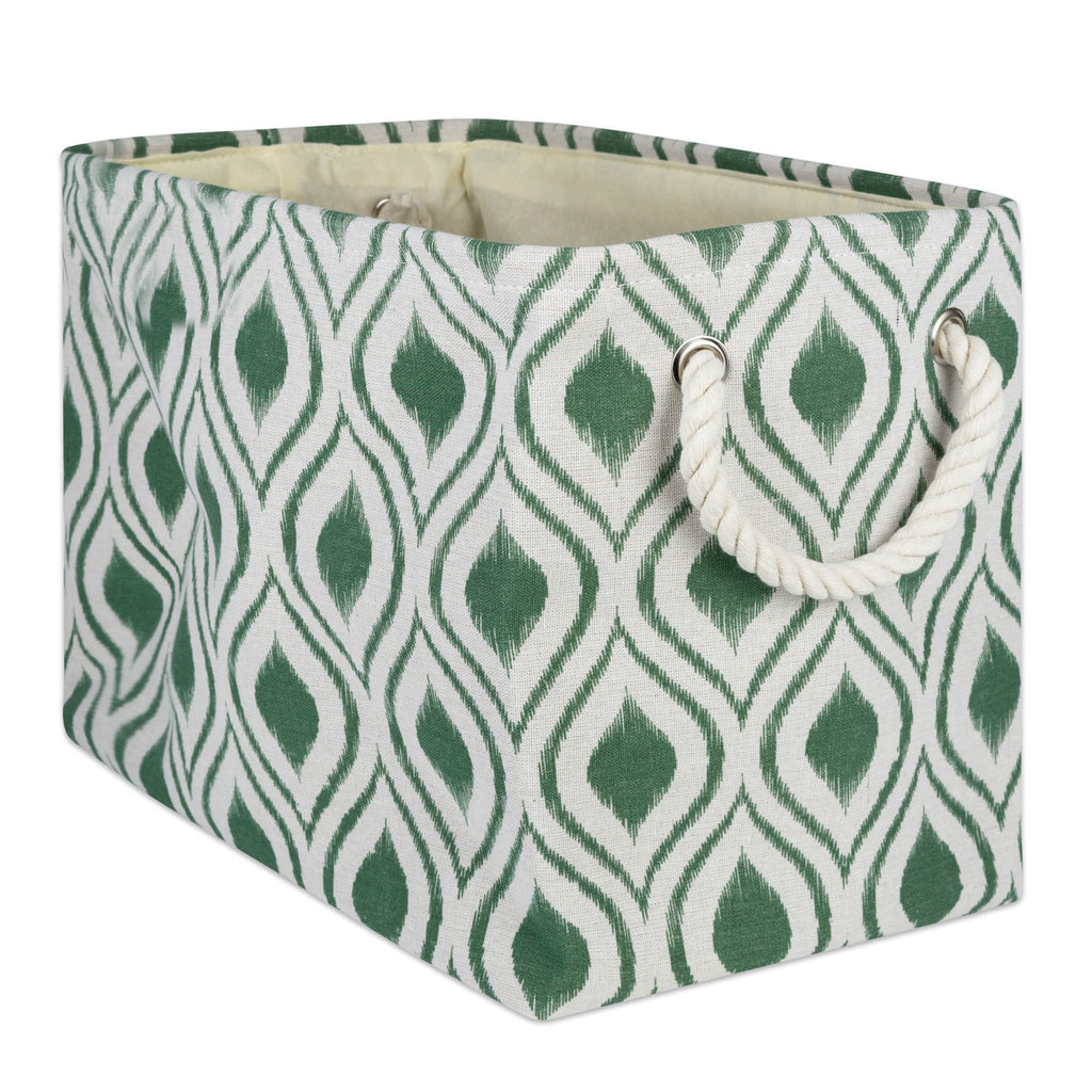 Polyester Bin Ikat Artichoke Rectangle Large 17.5x12x15