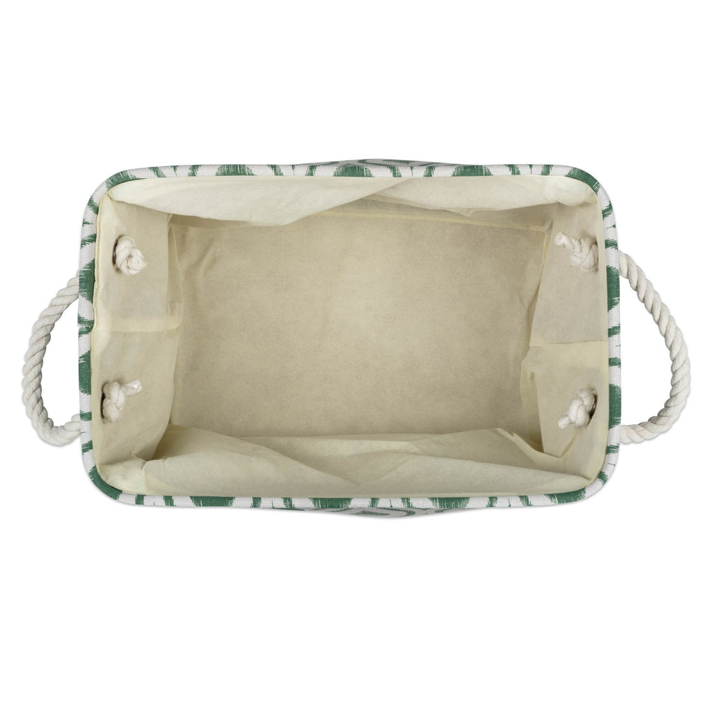 DII Polyester Bin Ikat Artichoke Rectangle Large