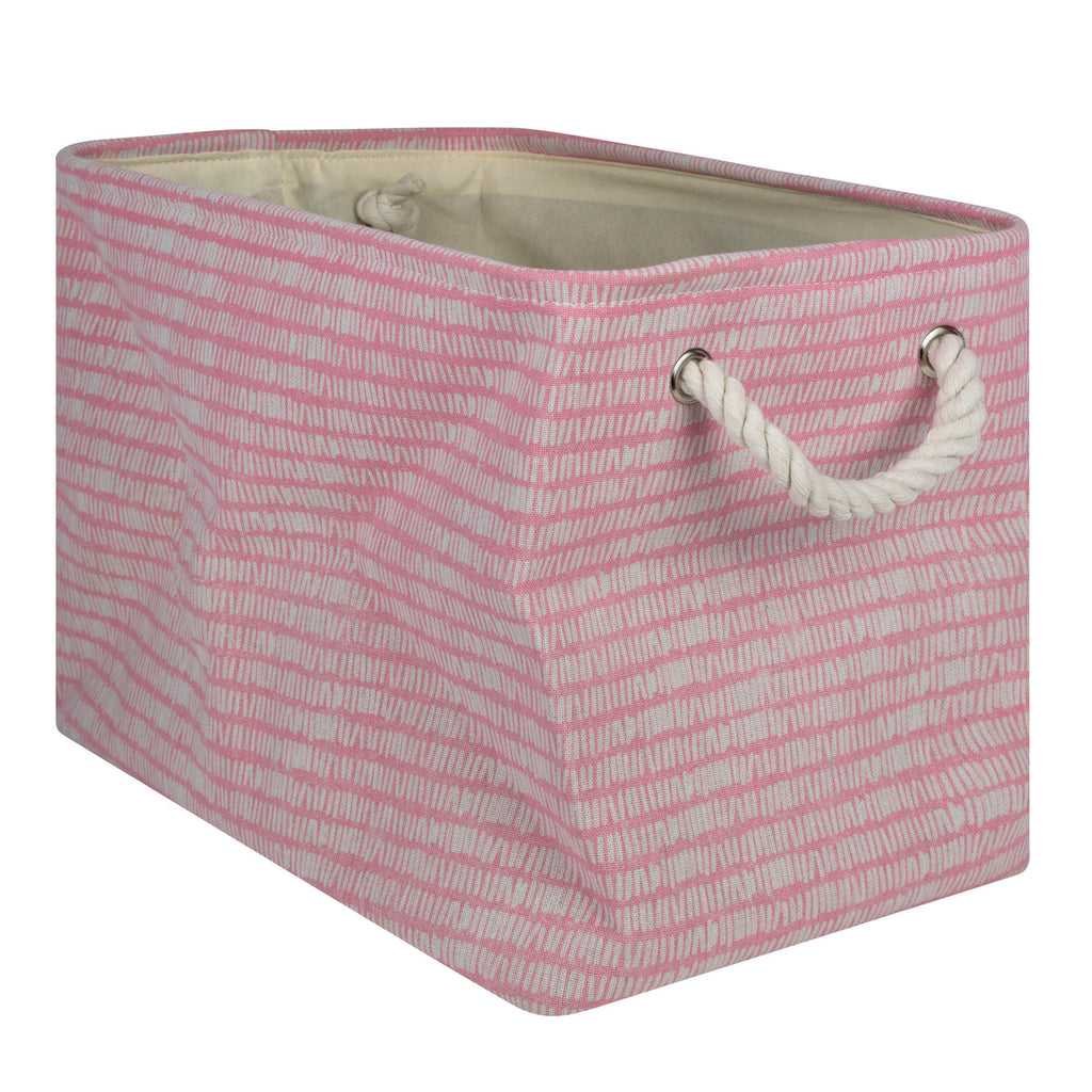 Polyester Bin Keeping Score Pink Sorbet Rectangle Large 17.5x12x15
