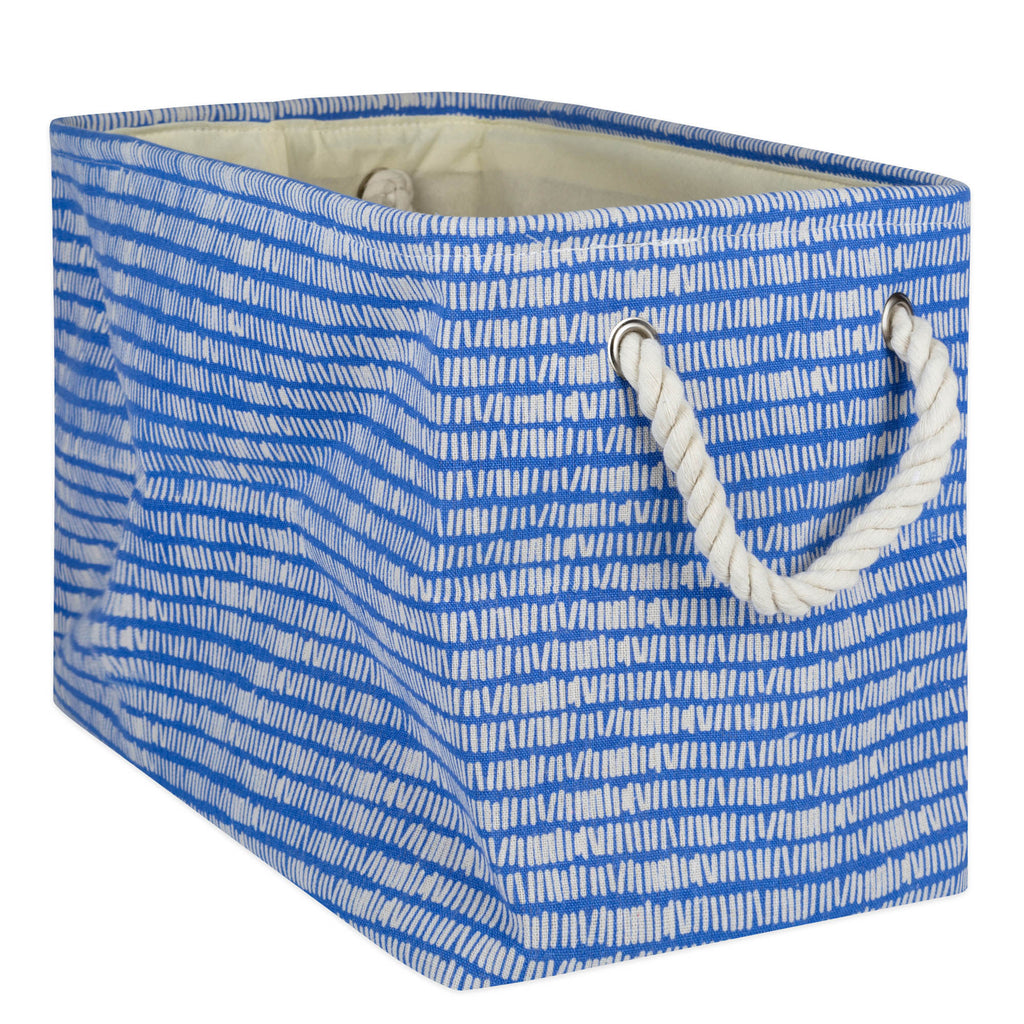 Polyester Bin Keeping Score Bright Blue Rectangle Large 17.5x12x15