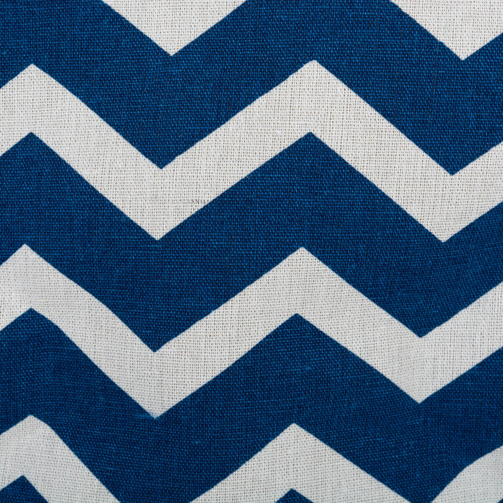 DII Polyester Bin Chevron Navy Round Medium